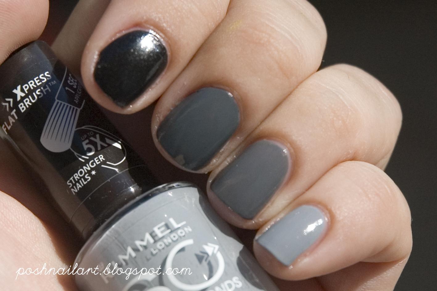 Posh Nail Art: 50 Shades of Grey Mani