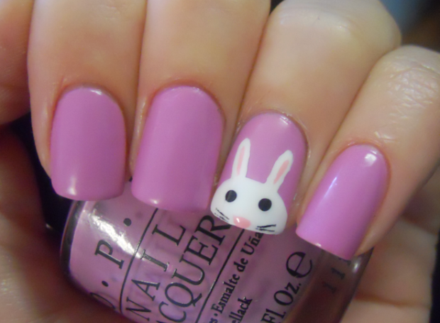 holy manicures easter bunny nails