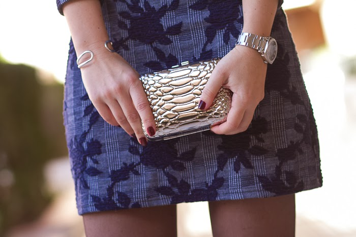 Clutch Metálico / Metalic Quilted Clutch:  VICTORIA DELEF