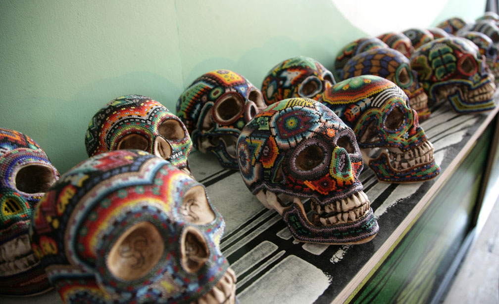 moon to moon our exquisite corpse mexican beaded skulls