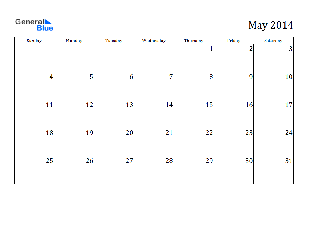 May 2014 calendar printable 3 printable calendar 2014 blank may 2014 calendar printable 3 saigontimesfo