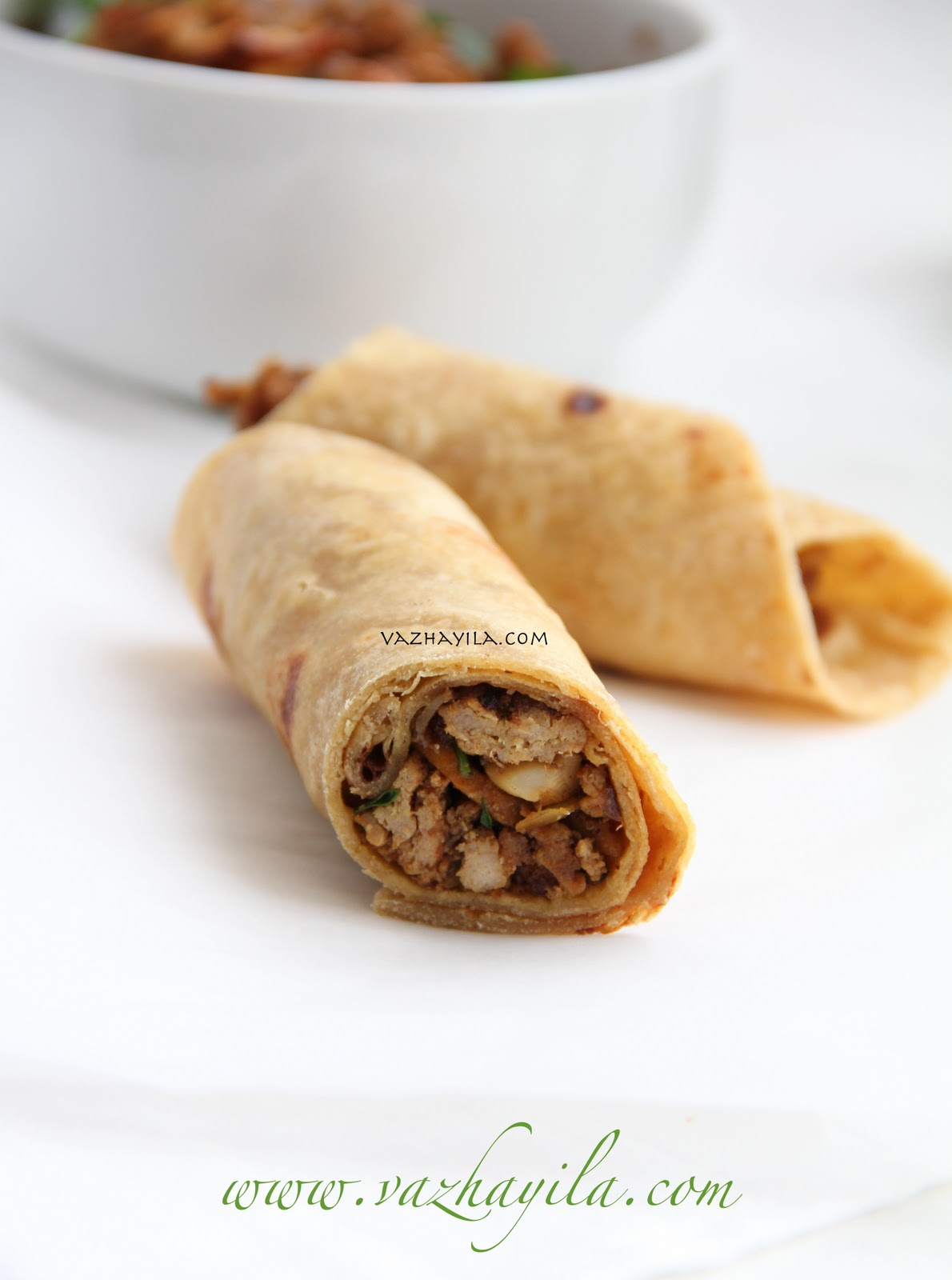 Chicken keema rolls recipe