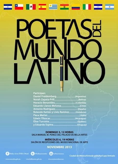 Encuentro de Poetas del Mundo Latino en el Palacio de Bellas Artes