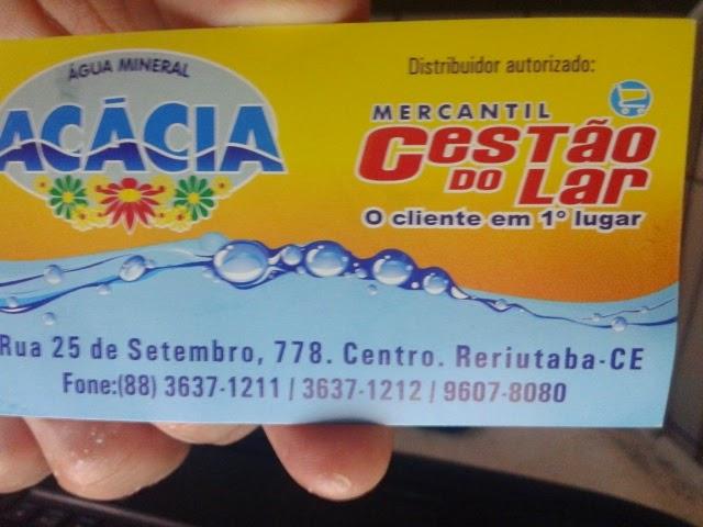 MERCANTIL CESTÃO DO LAR E  ÁGUA ACÁCIA VOCÊ EM PRIMEIRO LUGAR