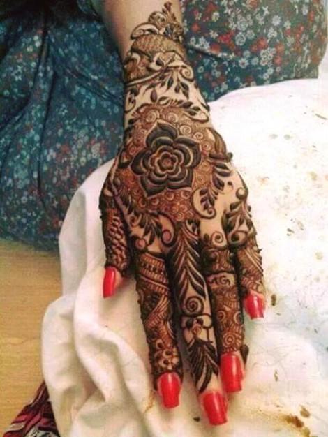 Mehndi For Dulhan Foot : Fashion fok stylish winter wedding bridal mehndi