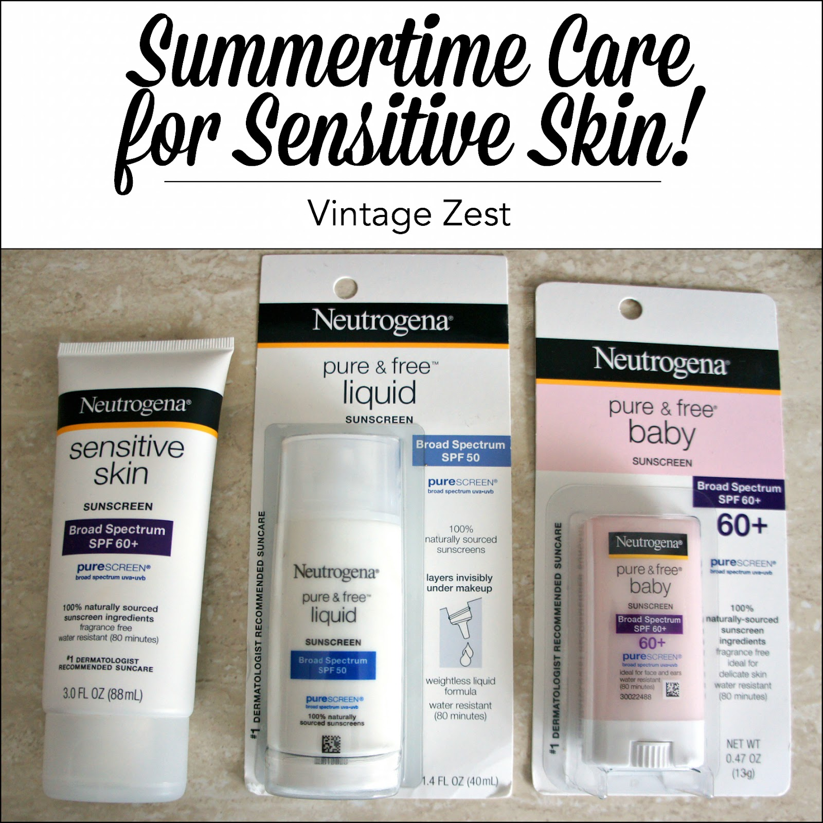 Summertime Skin Care for Sensitive Skin on Diane's Vintage Zest!  #ad #ChooseSkinHealth #IC