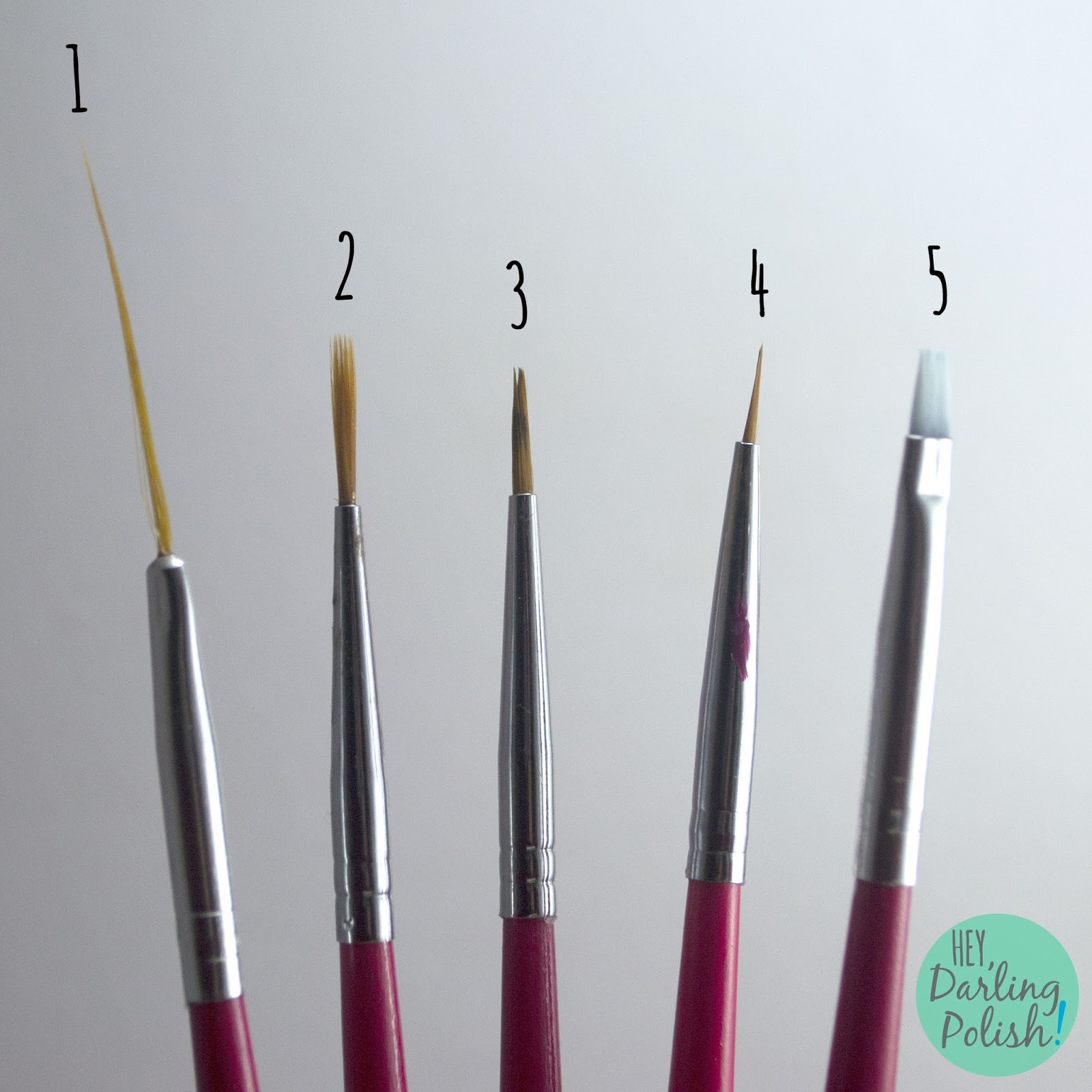 born pretty store, hey darling polish, nail art brushes, review