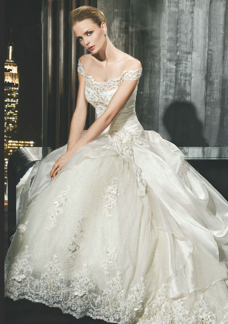 Wedding dress business off the shoulder wedding dresses for A big wedding dress