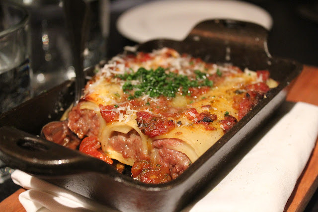 Beef tongue cannelloni at Russell House Tavern, Cambridge, Mass.