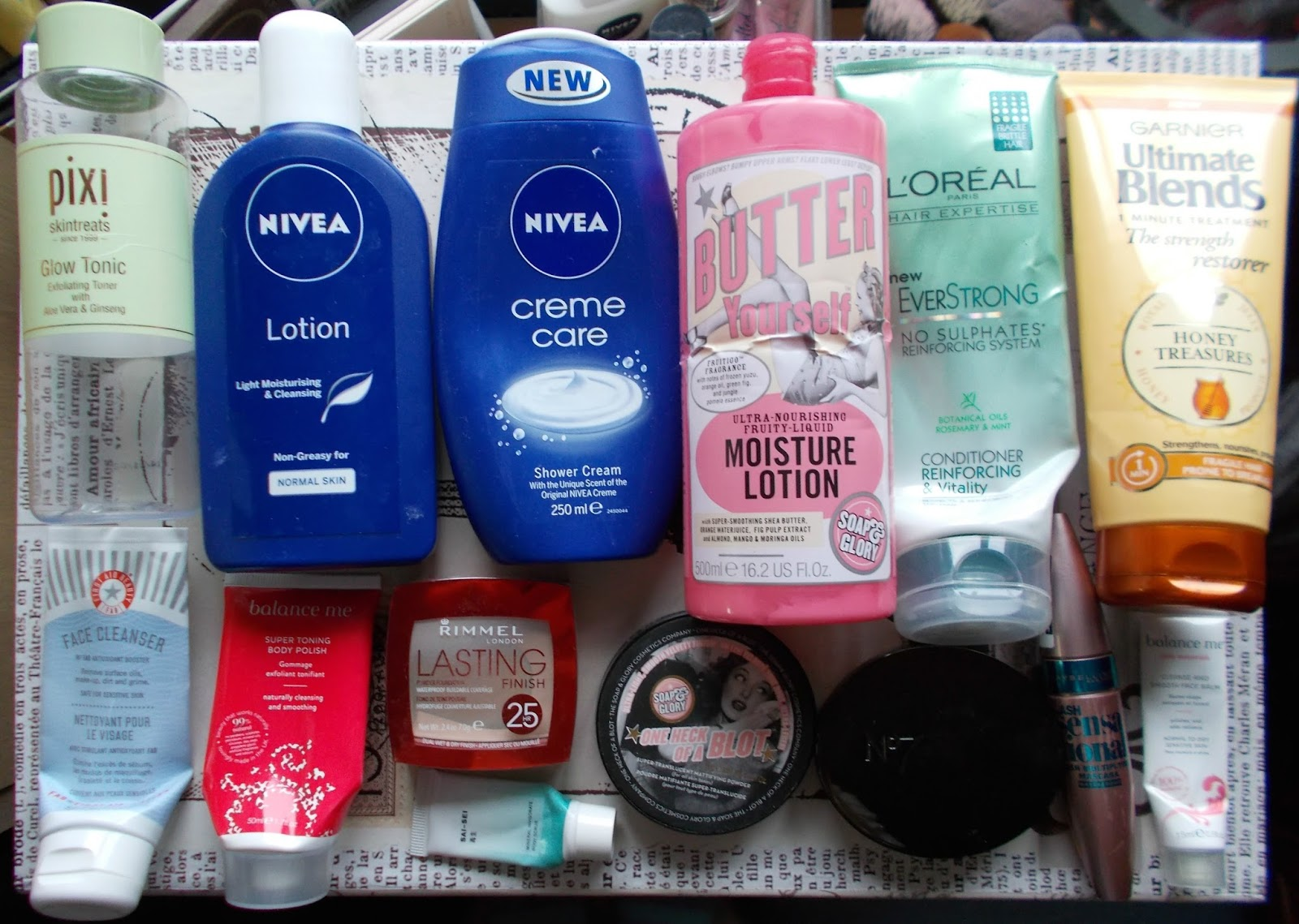 product empties reviews haircare bodycare skincare makeup soap and glory nivea loreal