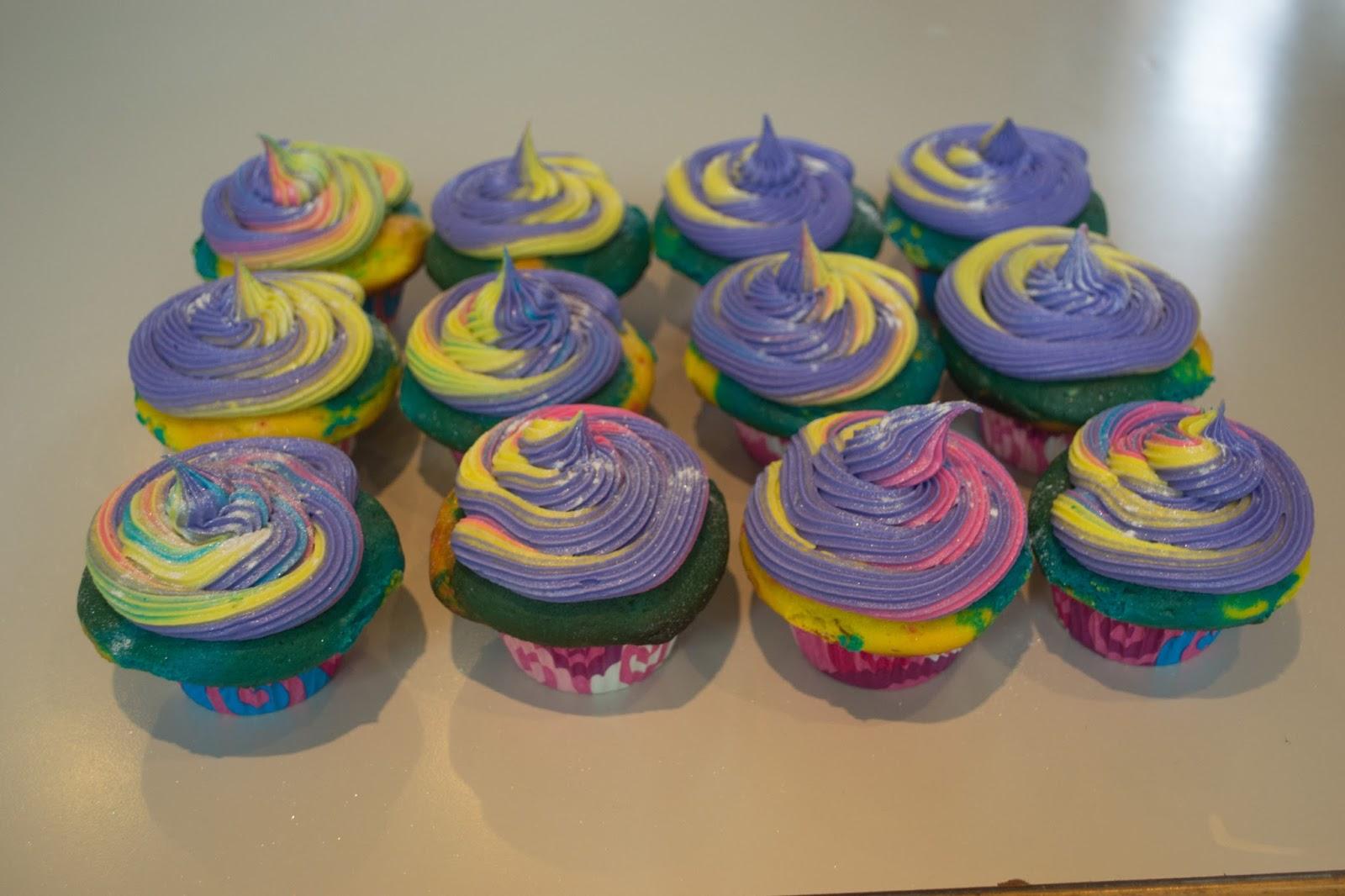 Unicorn Cupcakes So this is what unicorn poop Unicorn Poop Cupcakes