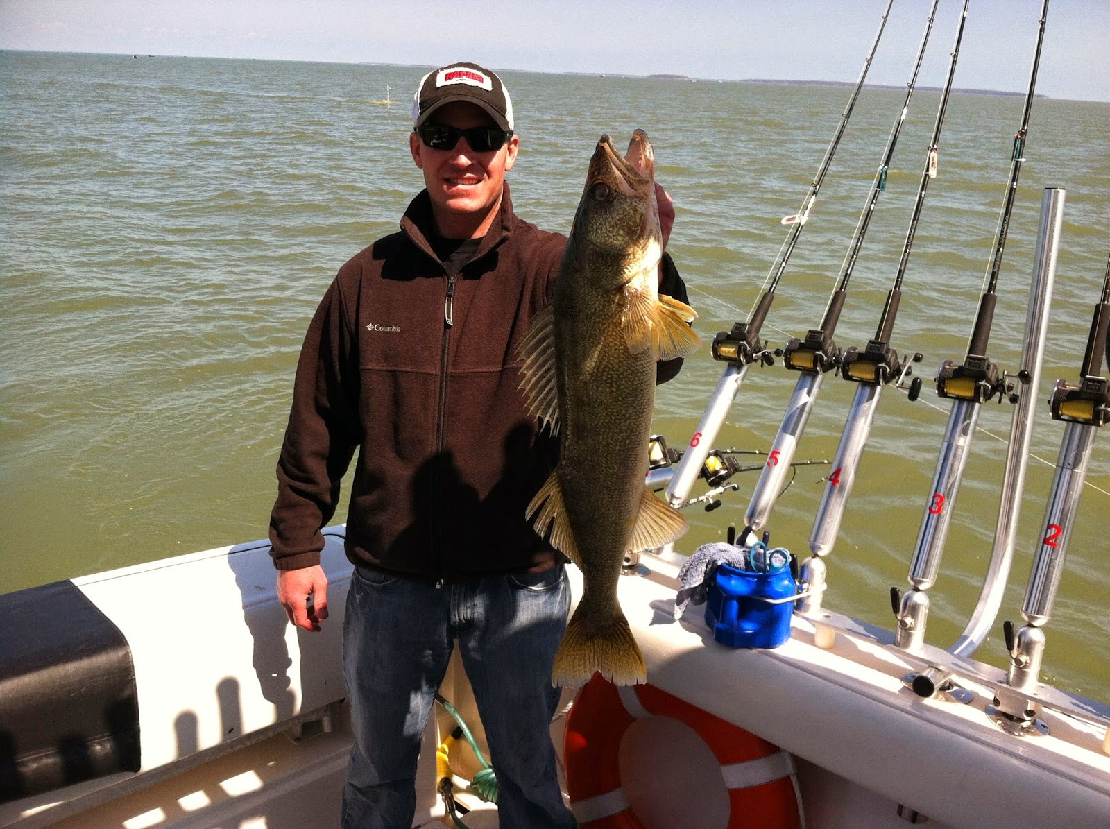 Lake erie walleye fishing reports great day first day on for Odnr fishing report