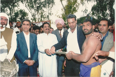 When Ch Mansha Gujjar won prizes with Kabaddi team of his village