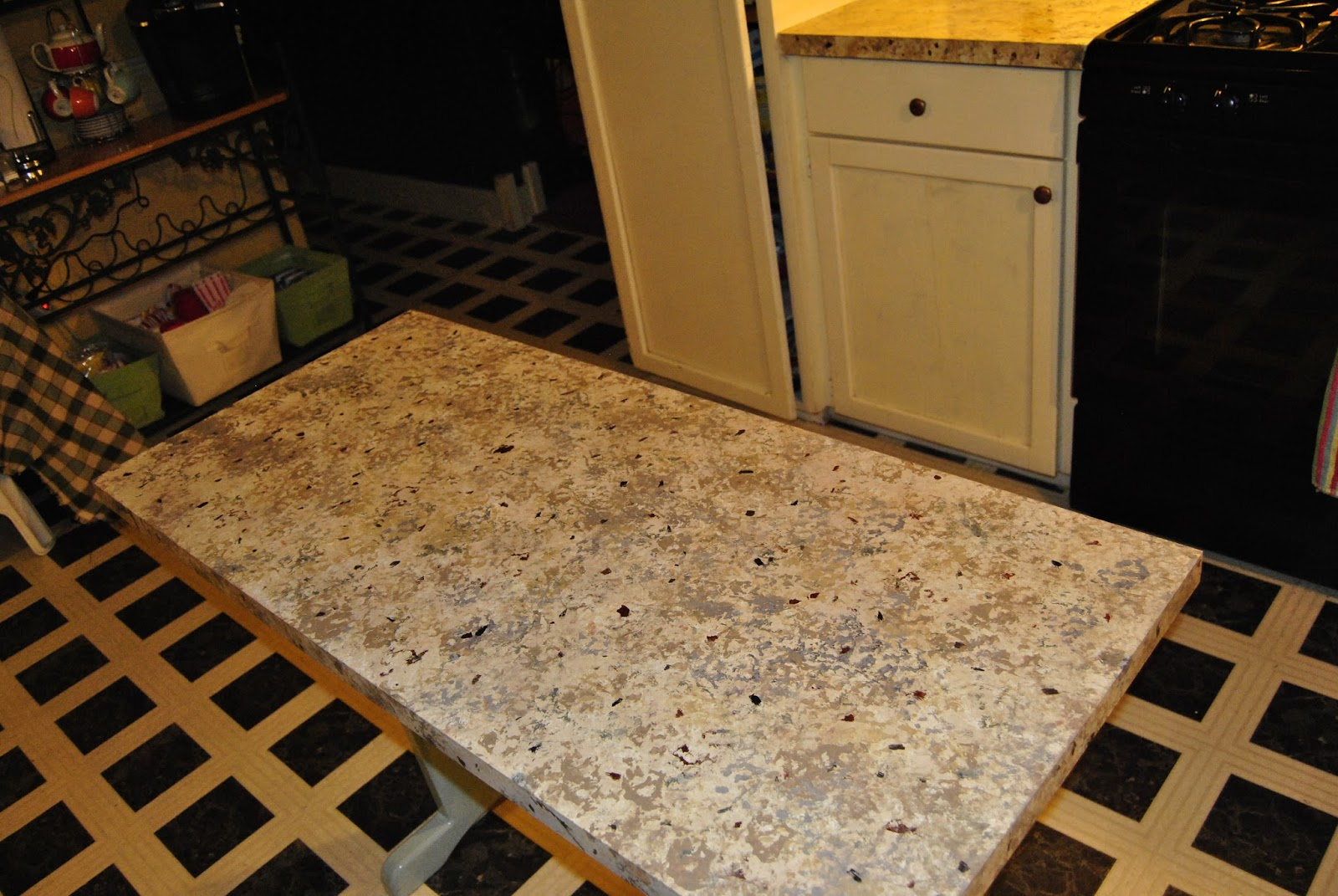 The Girl With Panache Faux Granite Countertops Faux