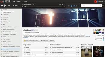 Escucha la musica online con Deezer