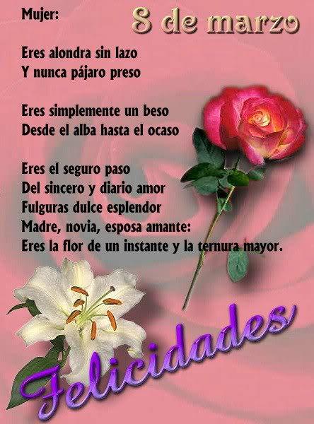 » Día de la Mujer - Poemas de Amor Poesias y Poemas para