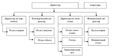 Организационная структура предприятия «Рога и копыта»