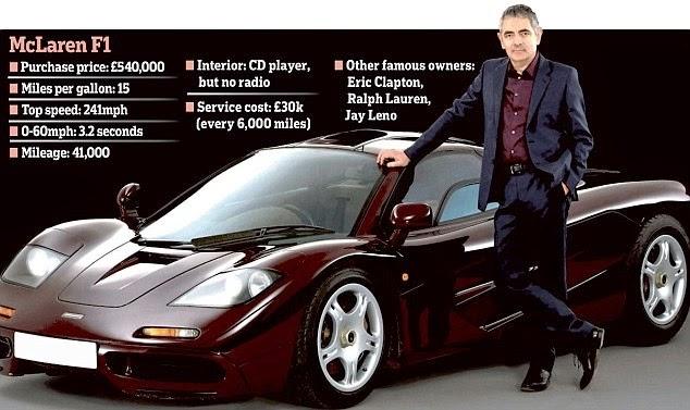Mr. Bean lelong kereta kesayangannya pada harga RM43 juta