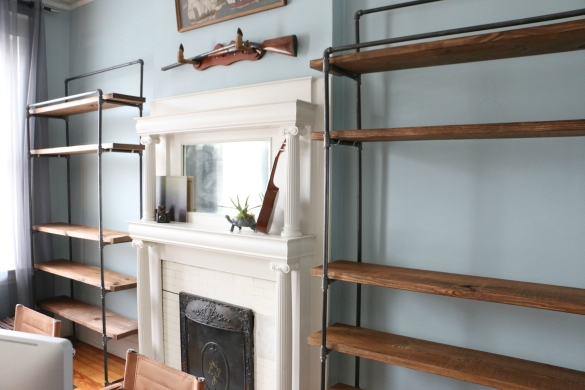 17 Apart Industrial Style The Bookcases Are In