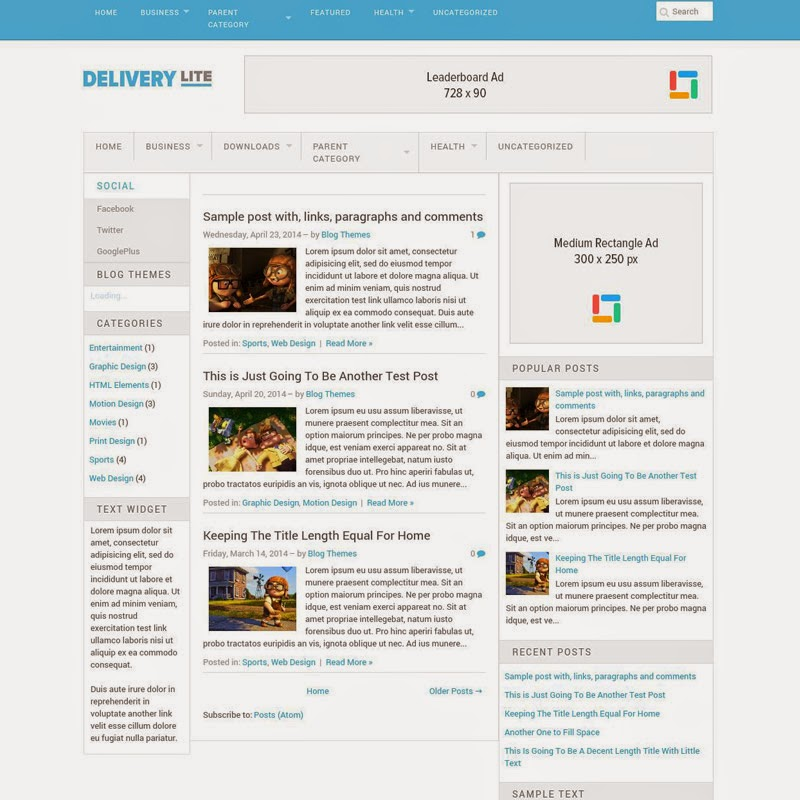 Delivery Lite Free responsive blogger template