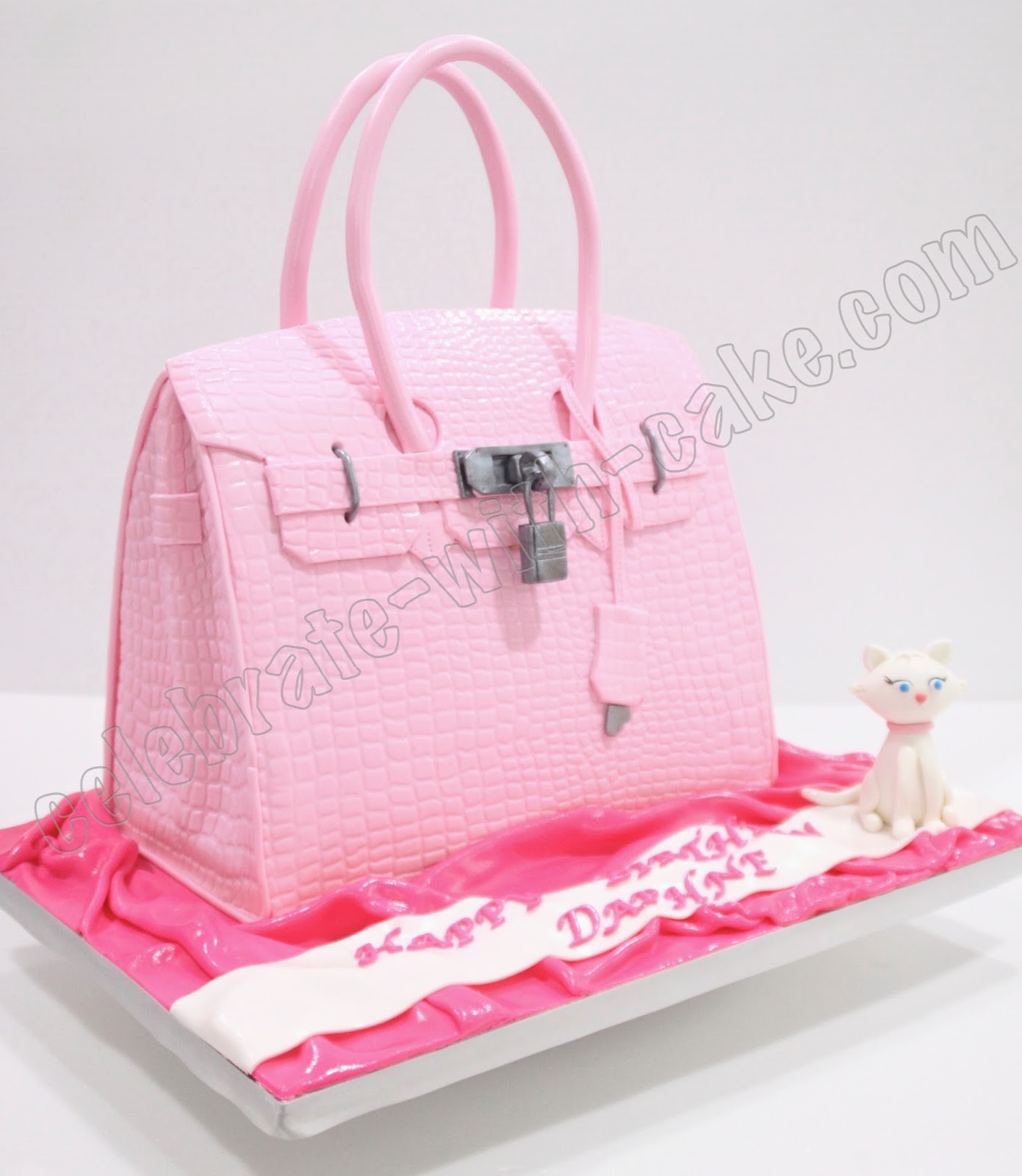 grey birkin bag - Celebrate with Cake!: Pink Hermes Birkin Bag Cake