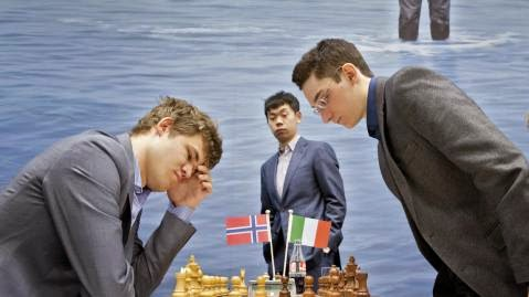 Carlsen and Caruana - Gashimov Memorial - April 2014