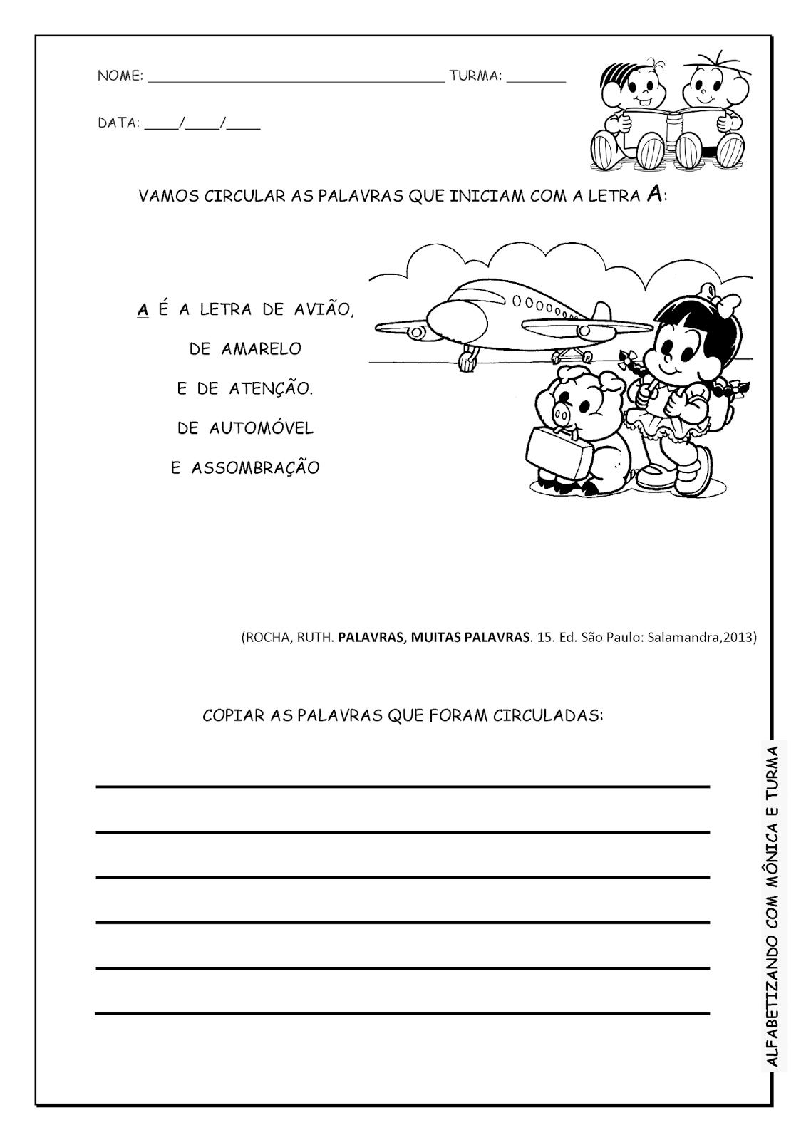 Alfabetizando com Mônica e Turma: Família silábica