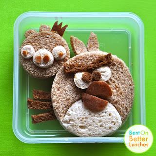 Angry Birds peanut butter sandwich