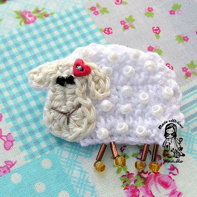 free lamb crochet pattern, crochet Vendulka, Magic with hook and needles, crochet patterns, crochet