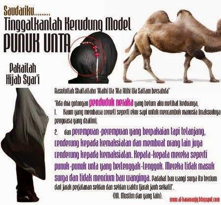 jilbab punuk onta
