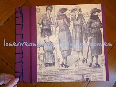 Álbum realizado en cartonaje y cosido japonés