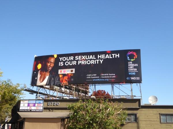 LA LGBT Center sexual health priority billboard