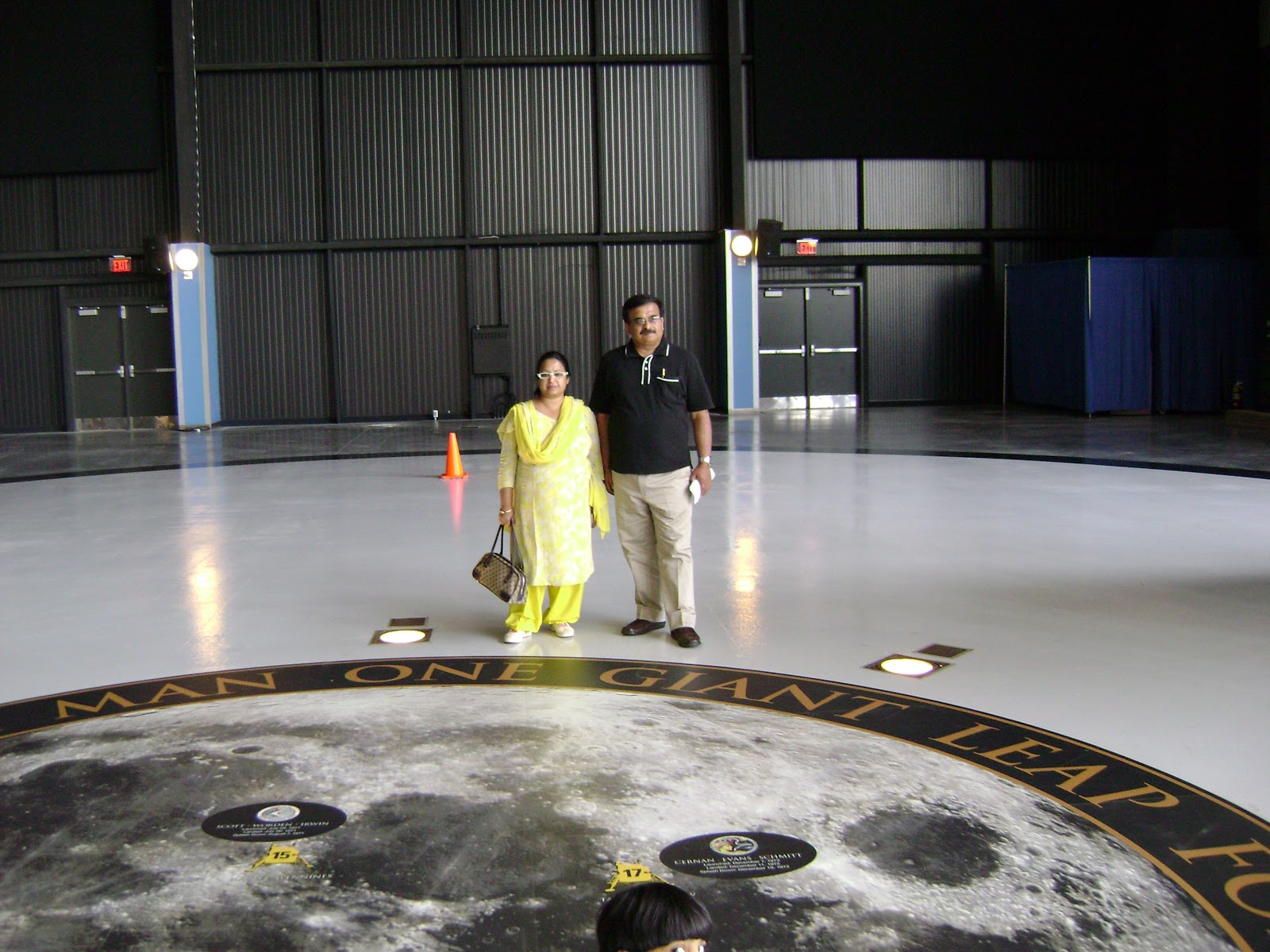 Map of the Moon at Huntsville, USA