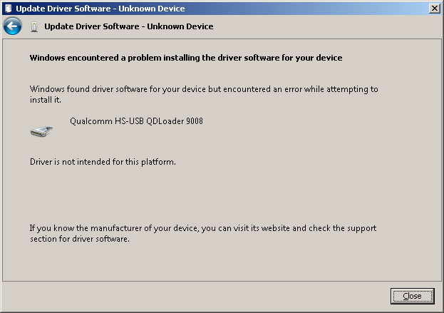 qualcomm hs usb driver for windows xp