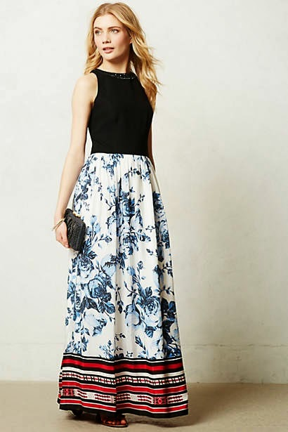 Anthropologie Strata Maxi Dress