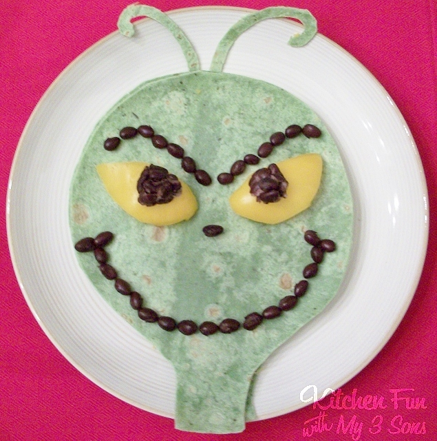 The Grinch Quesadilla