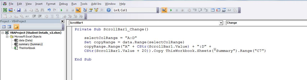 Excel Vba Scroll To Top Freeze Panes Excel 2010 Vba