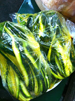 Zucchini, squash, vegetables, veggies, marinating, bag