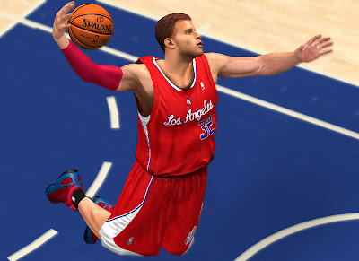 NBA 2K13 Blake Griffin Dunk Realistic Sweat Effect Face Mods