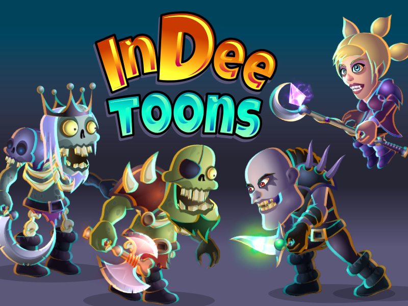 InDee Toons - A Library of 2D Game Characters