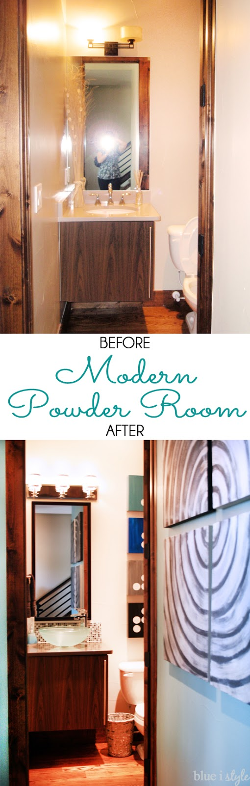 Modern Powder Room Makeover