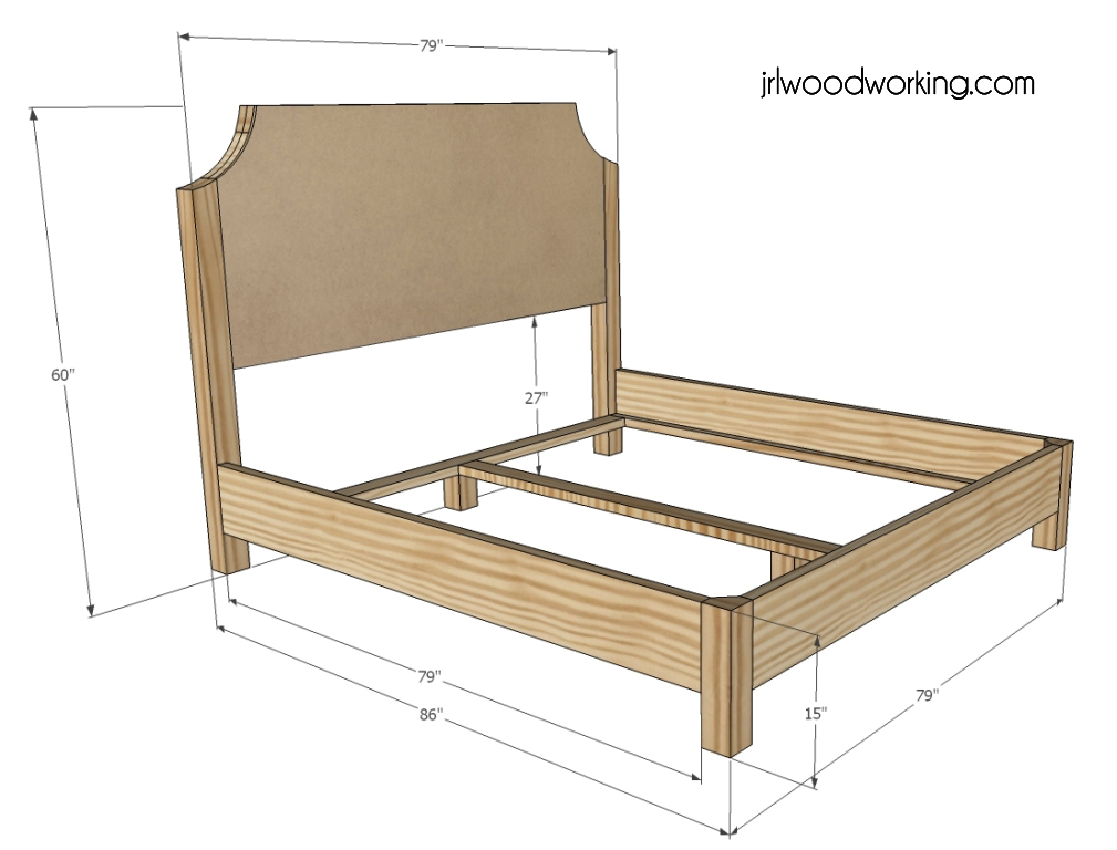 Wood bed frames and headboards plans pdf woodworking for Bed frame plans