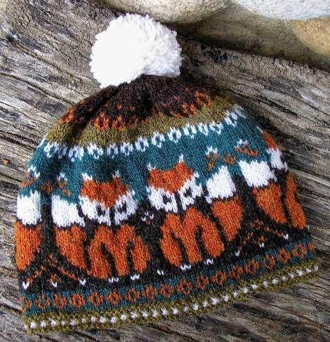 tricot-bonnet-renard-fair isle