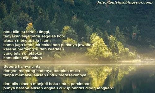Puisi Cinta Tak Perlu Alasan