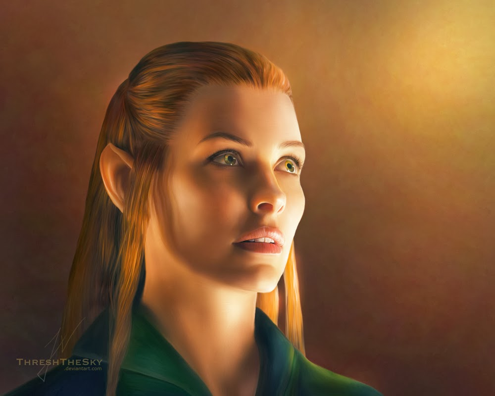 evangeline-lilly-as-tauriel-painting