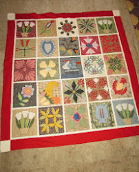 "Hand Made Appliqué Quilt (55""x 55"")"