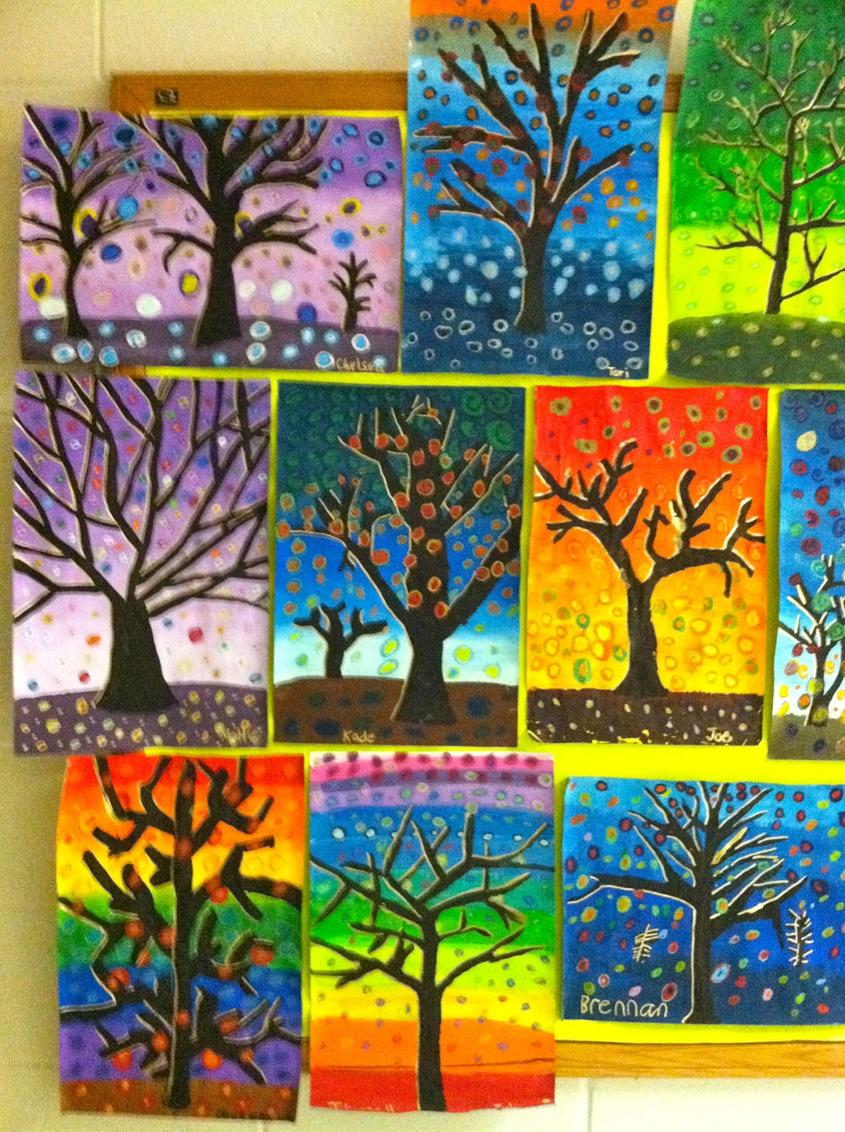 Getting my art wings back grade 6 patterned tree designs for Craft work for class 3