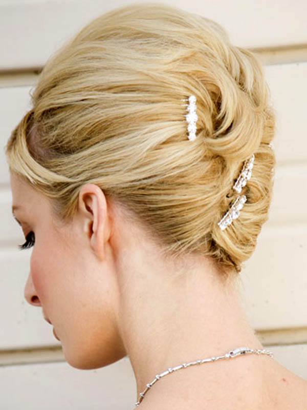 Elegant Classic Bun Updos Hairstyles for Brides