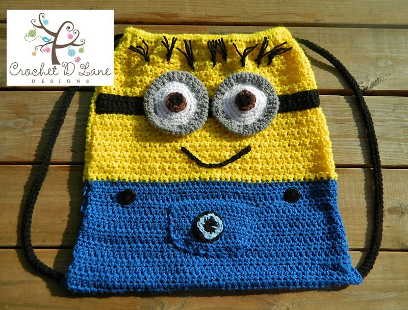 Crochet Backpack Pattern : crochet d lane: Minion Mayhem This Halloween