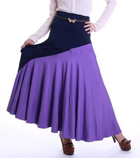 Skirt Labuh Kembang Umbrella 655 - Blue Purple